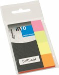 Page Marker Brilliant, 20x50mm, 4x40 listića  Info Notes