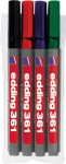 Whiteboard marker 361 1mm set 1/4 Edding sortirano