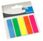 Page Marker standardni 12x44 mm, 5 boja brilliant, 125 listića Info Notes