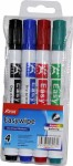 Board marker easyWipe BY237800 3 mm, set 1/4 A Plus sortirano