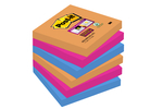 Post-it Super Sticky 76 x 76 mm, BANGKOK, 90L, 6-pack 3M