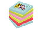 Post-it Super Sticky 76 x 76 mm, MIAMI, 90L, 6-pack 3M